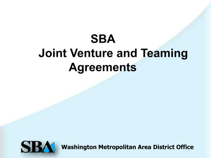 sba joint venture and teaming agreements n.