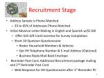 recruitment stage