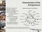 characteristics of the entrepreneurs