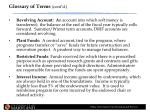 glossary of terms cont d