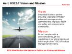 aero hse f vision and mission