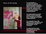 aims of the study