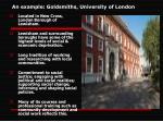 an example goldsmiths university of london