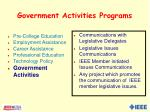 government activities programs