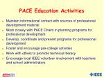 pace education activities