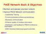 pace network goals objectives