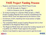 pace project funding process