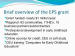 brief overview of the eps grant
