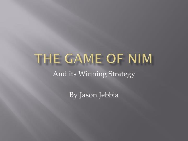 the game of nim n.