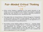 fair minded critical thinking paul 1990 110