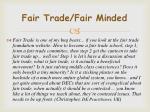 fair trade fair minded