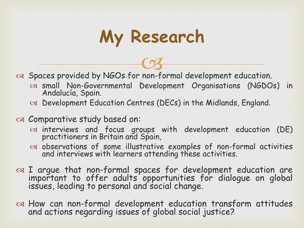 PPT - Transformative learning in non-formal settings