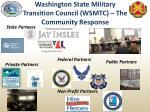 washington state military transition council wsmtc the community response
