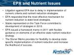 epa and nutrient issues