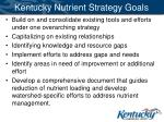 kentucky nutrient strategy goals