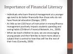 importance of financial literacy