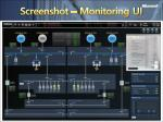 screenshot monitoring ui