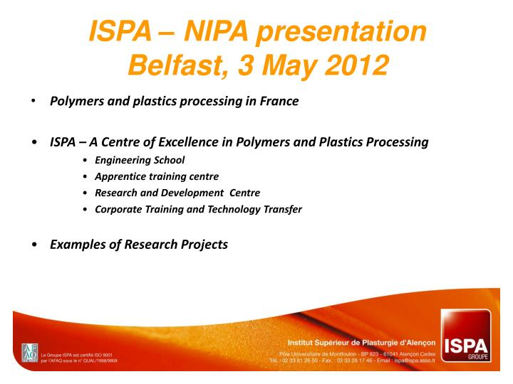 ispa nipa presentation belfast 3 may 2012 n.