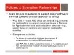 policies to strengthen partnerships