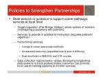 policies to strengthen partnerships1