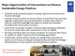 major opportunities of interventions to enhance sustainable energy practices2