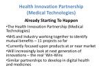 health innovation partnership medical technologies1