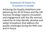 statement of intent for innovation in health2