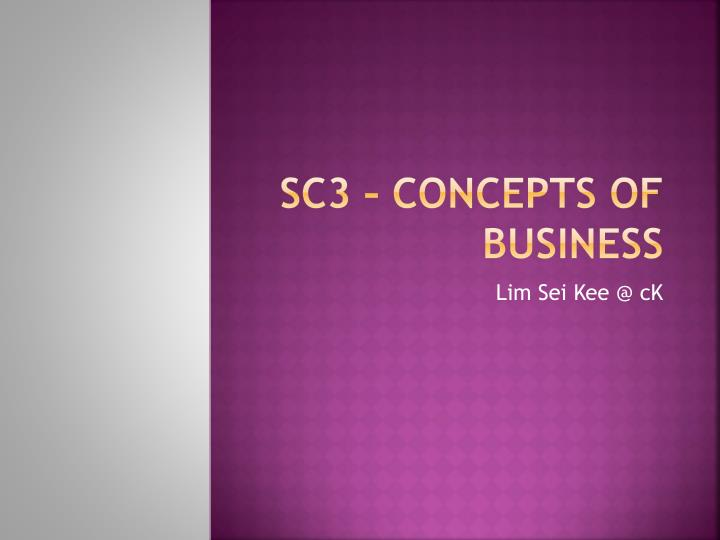 sc3 concepts of business n.