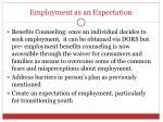 employment as an expectation