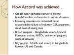 how accord was achieved