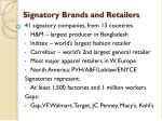 signatory brands and retailers