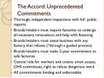 the accord unprecedented commitments