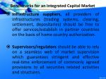 benchmarks for an integrated capital market1