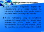 understanding capital markets integration