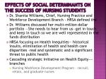effects of social determinants on the success of nursing students