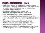panel discussion con t1
