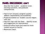 panel discussion con t4