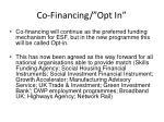 co financing opt in