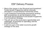 esf delivery process