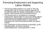 promoting employment and supporting labour mobility
