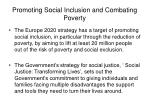 promoting social inclusion and combating poverty