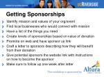 getting sponsorships
