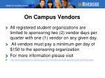 on campus vendors