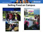 selling food on campus