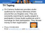 tv taping