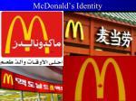 mcdonald s identity