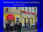 mcdonald s site selection and stores2