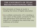 the university of texas brand positioning idea