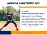 nevada lightning 10u2