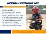 nevada lightning 10u3